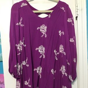 Altar'd State Floral Embroidered Dress Medium